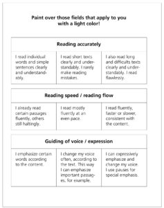 Reading out loud: a self-evaluation   HLT